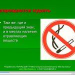 Слайд - Запрещается курить